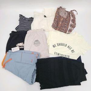 Teen Bundle Shorts Mini Skirts and Top Size Medium